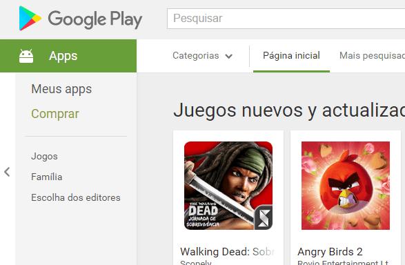 baixar a Play Store em um computador celular